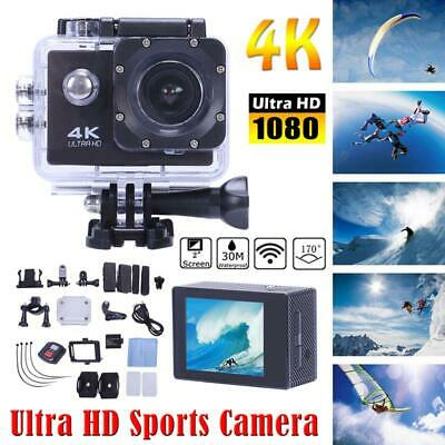 "Ultra 4K Full HD 1080P Waterproof Sports Camera DVR WiFi Action Camcorder 2"" UK"