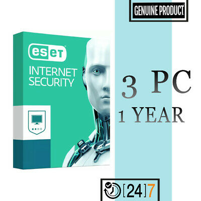Eset Internet Security 3 PC Device 1 year License key 2019 - Download