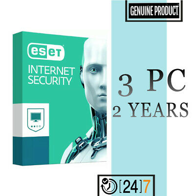 Eset Internet Security 3 PC Device 2 year License key 2019 - Download