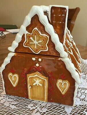Christmas Gingerbread House Cookie Jar Magenta Holiday Decorations July