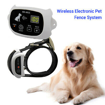 Electric Waterproof Wireless Fence System Pet Dog Transmitter Collar Containment