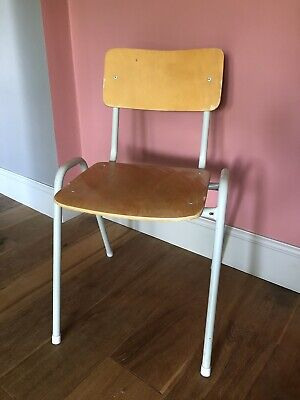 Vintage Mid Century Stacking School Stackable Cafe Bar Kitchen Dining Chairs