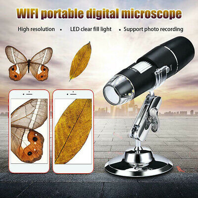 1000X WIFI Digital Microscope Magnifier Camera 8LED+Stand For-Android IOS iPhone