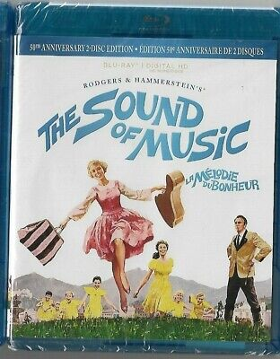 Sealed NEW BLU-RAY DISC - THE SOUND OF MUSIC - 50TH Anniversary 2 Disc Edition