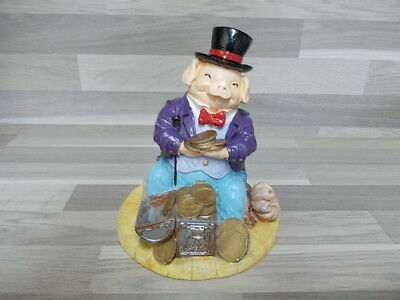 Nice big ornament money bank Porky Pig treasure chest decorative coin bank