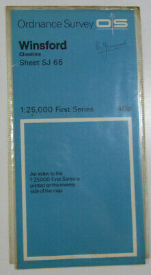 1958 Old OS Ordnance Survey 1:25000 First Series Map SJ 66 Winsford, Cheshire