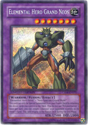 Yugioh Elemental Hero Grand Neos CT04-EN001 Limited Secret Rare Lightly Played