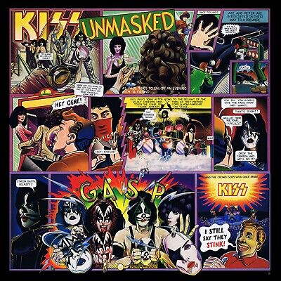 KISS Unmasked BANNER HUGE 4X4 Ft Fabric Poster Tapestry Flag album cover art