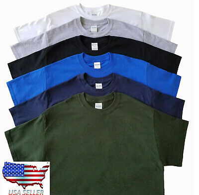 Plain Men's T-shirt short sleeves Gildan Heavy Cotton G500 S-XL