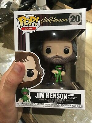 Funko Pop! Icons Muppets Jim Henson With Kermit Vinyl Figure #20 IN HAND