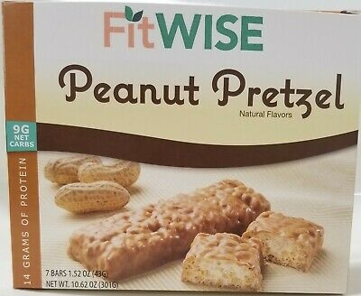 Ideal Protein Compatible HealthWise Peanut Pretzel Divine Bar for Weight Loss an
