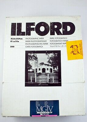 "195729 Partial Box *EXPIRED* Ilford 8.5x11"" MGIV RC Glossy B&W Photo Paper"