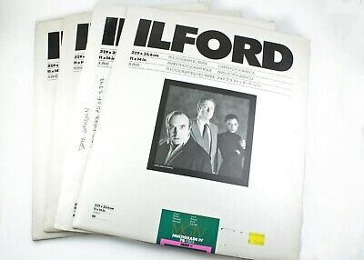 """195732 Mixed Lot 11x14"""" *EXPIRED* Ilford MGIV Fiber & RC B&W Photo Papers As-Is"""
