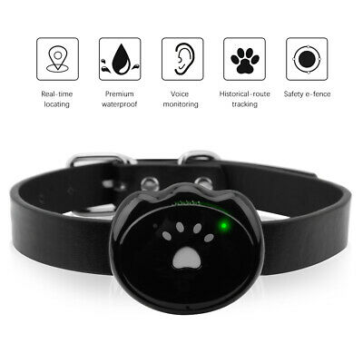 US Pet GPS Tracker Dog APP Online Real Time Tracking Locator Necklace Waterproof