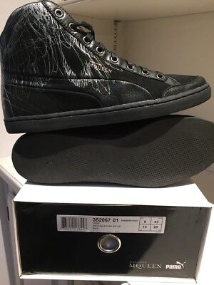 official photos 56632 573f7 PUMA by ALEXANDER McQUEEN   NEW Eagle Print Mid BLACK Sneakers Uni US SIZE  10