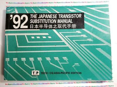 1992 THE JAPANESE TRANSISTOR SUBSTITUTION  MANUAL /  1 PIECE (qzty)