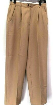 Sag Harbor Women's Size 8 Elastic Sides Pleated Front Hemmed Career Dress Pants