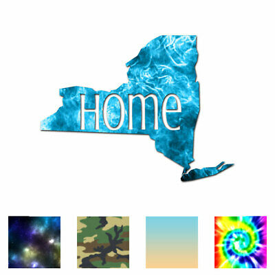 New York Home State - Vinyl Decal Sticker - Multiple Patterns & Sizes - ebn3834