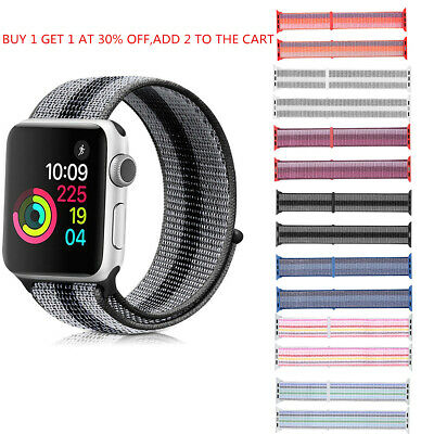 Nylon Sport Loop Watch Band Strap for Apple Watch Strap Bracelet Replacement