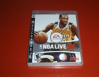 NBA Live 08 PS3 (Sony PlayStation 3, 2007) -Complete
