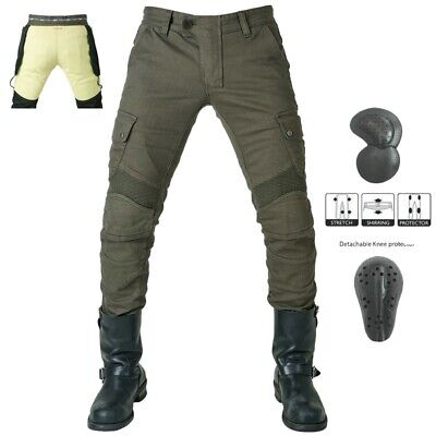 Motorrad Jeans Denim Biker Army Green Moto Pants Combat Freizeit Hose With Pads
