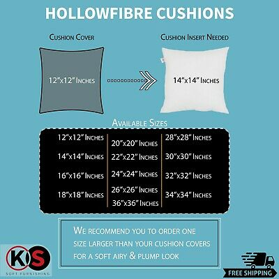 """Cushion Pads, Inner, Fillers, Insets Hollow Fiber 12""""14""""16""""18""""20""""22""""24""""26""""28""""30"""""""