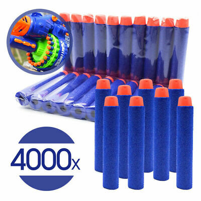 1-4000 Pcs NERF Gun Refill Soft Darts Bullets Toy Gun N -Strike Round Head Blast