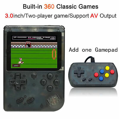 """Retro Portable Mini Handheld Game Console 8Bit 3.0"""" With 360 Games Player For FC"""