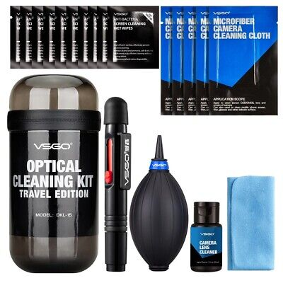 VSGO Portable Lens Cleaning Set Travel Kit 20 pcs for Camera & Photo Cleaning