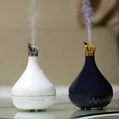300ml Ultrasonic Air Humidifier LED Essential Oil Aroma Diffuser Aromatherapy