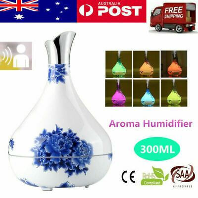 LED Auto Sensor Ultrasonic Essential Oil Aroma Diffuser Air Humidifier Purifier