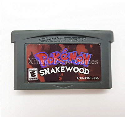 Nintendo GBA Video Game Console Card Cartridge Pokemon Snakewood