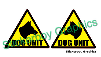DOG UNIT REFLECTIVE Magnet Magnetic Sign K9 Unit DOG SECURITY PATROL 250mm x 2