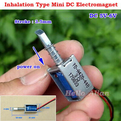 DC 5V 6V Suction Type Open Frame Self Holding Micro DC Solenoid Electromagnet