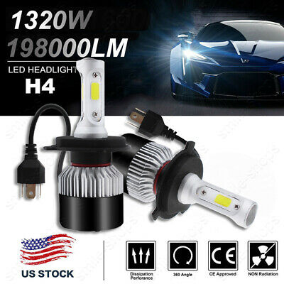 LED Headlight Bulb Replacement Kit for Toyota Tacoma Yaris RAV4 Tundra 9003 H4