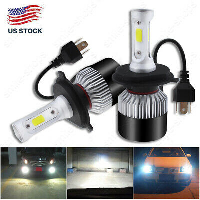 2x 9003 H4 HB2 LED Headlight Kit White High-Low Beam 1320W 6000K White US Stock
