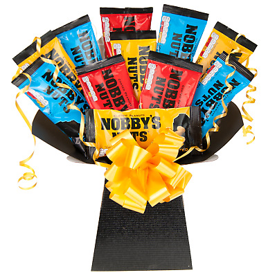 Nobby's Nuts Peanuts Snack Bouquet - British Pub Favourites Hamper Perfect Gift
