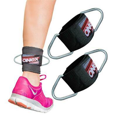 Onex SINGLE D Ring Weightlifting Gym Straps Neoprene Ankle Cuff Cable AttaChment