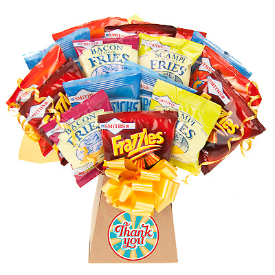 Smiths Crisps Thank You Gift Snacks Bouquet - Thank You Gifts Hamper