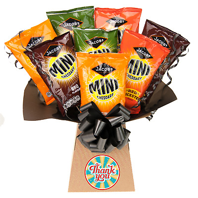 Jacobs Mini Cheddars Thank You Gift Chocolate Bouquet - Thank You Gifts Hamper