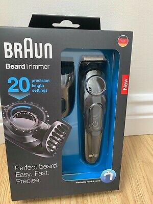 Braun BT3022 Beard/Hair Cordless Rechargeable Trimmer Shaver Adjustable Length