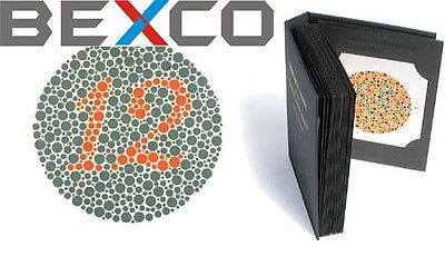 Top Quality Brand BEXCO 38 PLATES ISHIHARA Test Book For Color Blindness