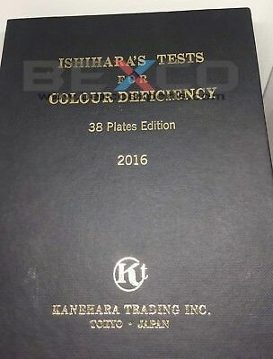BEST PRICE 38 PLATE ISHIHARA Test Book For Colour Blindness Testing Eye BY BEXCO