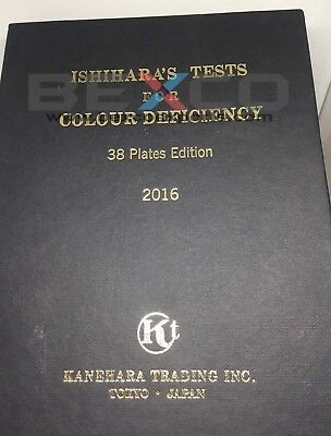 38 PLATE ISHIHARA Test Book For Colour Blindness Testing Eye by brand BEXCO