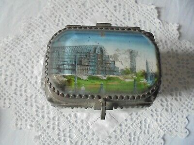 Antique French? Glass And Ormolu Jewellery Casket/Box - The Crystal Palace