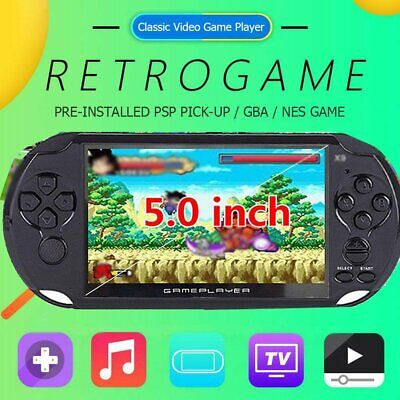 """PSP X9 8G Retro Handheld Game Console 5"""" Portable Video Game Player with Camera"""