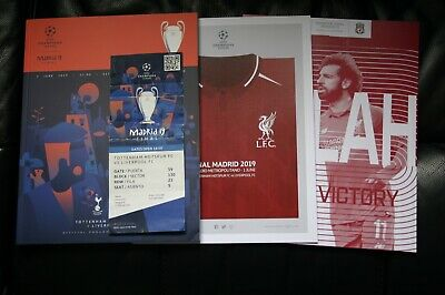 Spurs v Liverpool 2019 Champions League Final Programme/Posters and Ticket