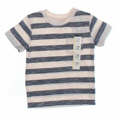 Cat & Jack Baby Boys T-shirt, size 12 mo,  beige,  cotton, polyester