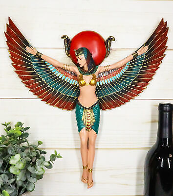 "Ebros Large Ancient Egyptian Goddess Isis with Open Wings Protector 12.5"" Tall"