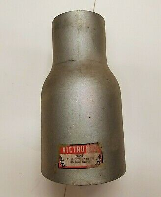 "Victaulic 6"" x 4"" Galvanized Swage Nipple plain both ends Schedule 40"